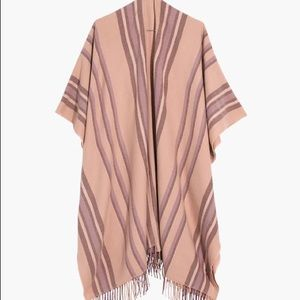 NWOT Madewell Placed Stripe Poncho Scarf Wrap